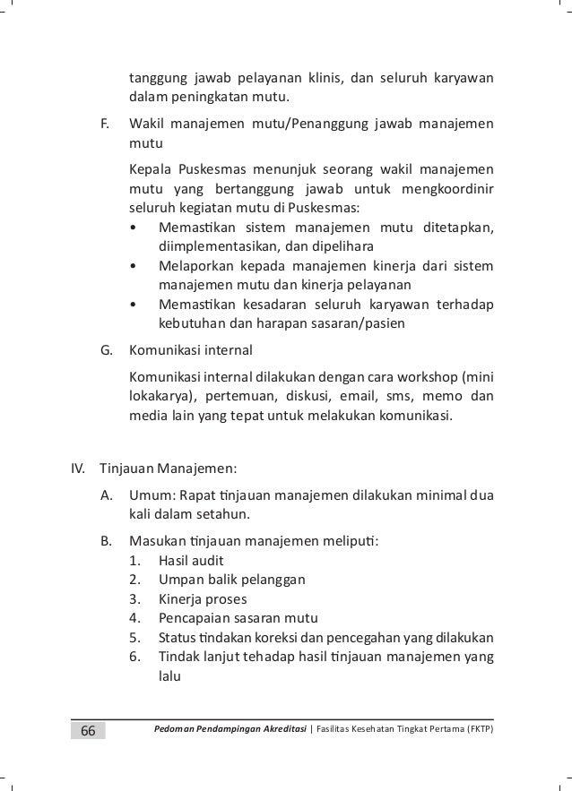 69Pedoman Pendampingan Akreditasi | Fasilitas Kesehatan Tingkat Pertama (FKTP) d. Penyelenggaraan pelayanan klinis: 1) Pen...