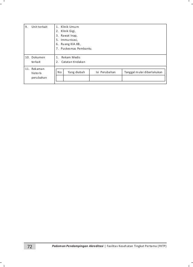 Pedoman penyusunan dokumen akreditasi fasilitas kesehatan tingkat pertama