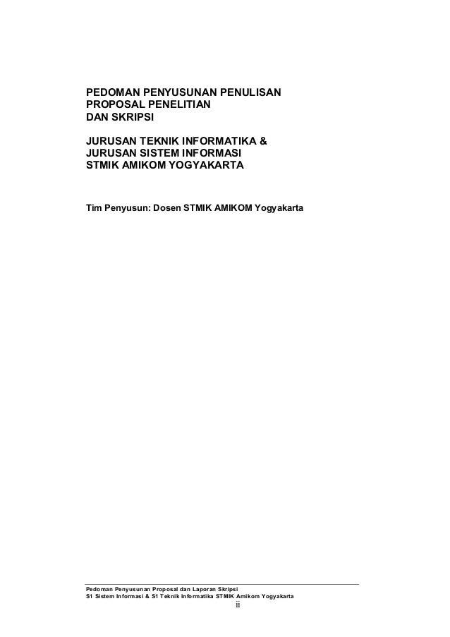 Contoh Proposal Skripsi Teknik Informatika Lengkap