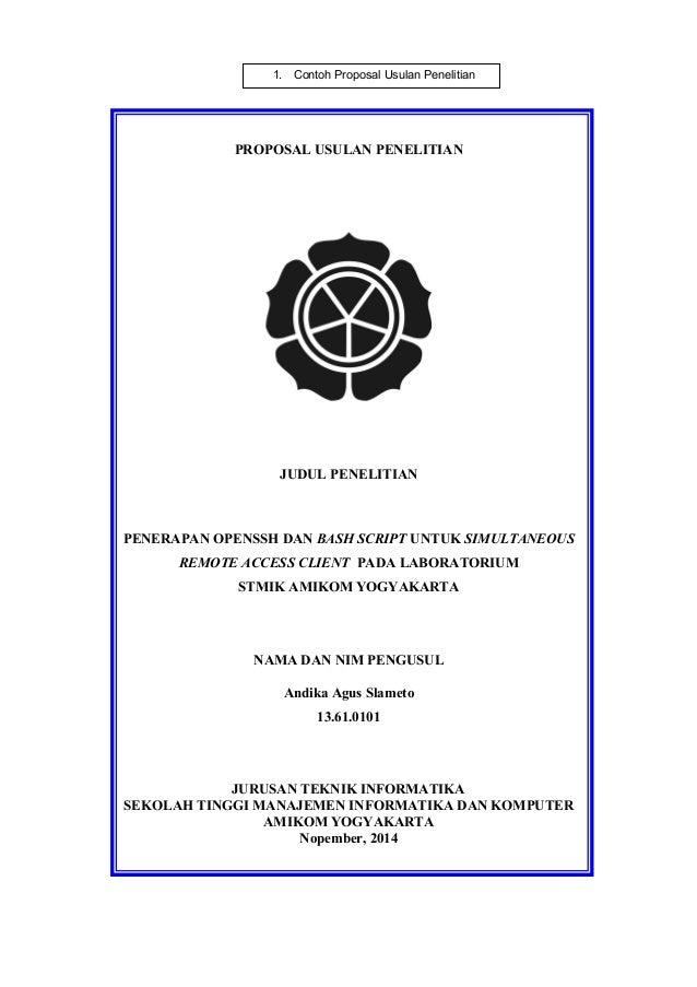 Pedoman Penyusunan Penulisan Proposal Penelitian Dan Skripsi