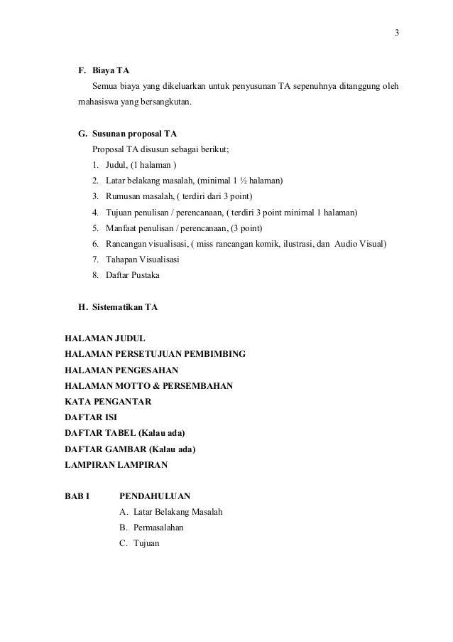 Pedoman Penulisan Karya Ta Tugas Akhir D3 Dkv Uns