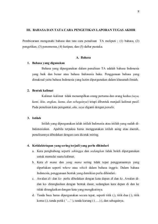 Pedoman Penulisan Karya TA (Tugas Akhir) D3 DKV UNS