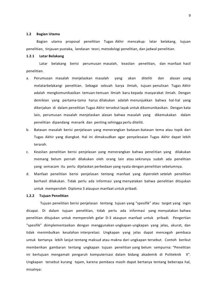Pedoman usulan proposal ta dan laporan tugas akhir