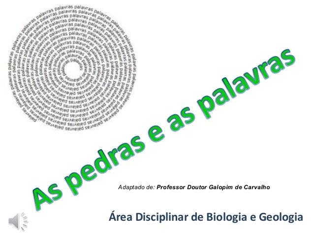 Área Disciplinar de Biologia e Geologia Adaptado de: Professor Doutor Galopim de Carvalho