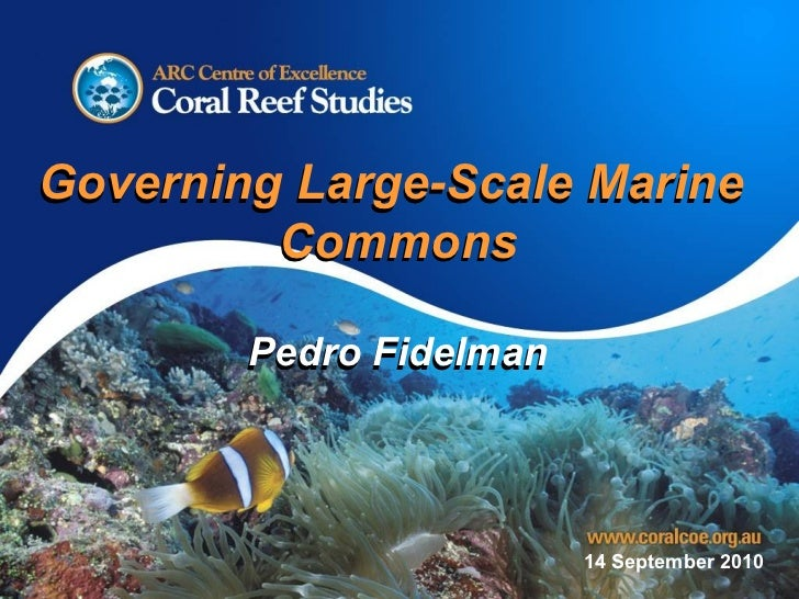 14 September 2010 Governing Large-Scale Marine  Commons Pedro Fidelman Governing Large-Scale Marine  Commons Pedro Fidelman