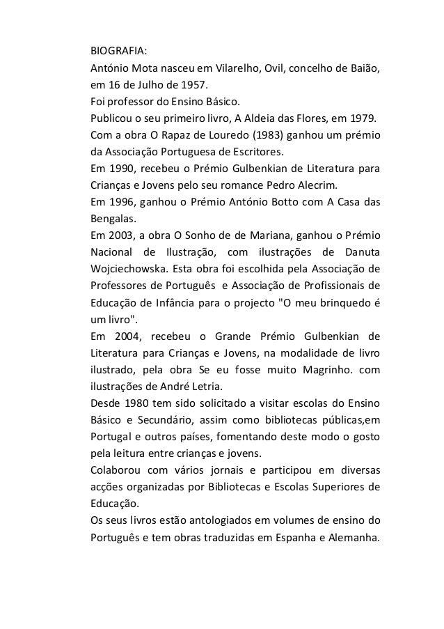 BIOGRAFIA: António Mota nasceu em Vilarelho, Ovil, concelho de Baião, em 16 de Julho de 1957. Foi professor do Ensino Bási...