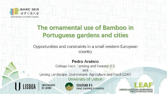 Pedro Arsénio_The ornamental use of Bamboo in Portuguese gardens and …