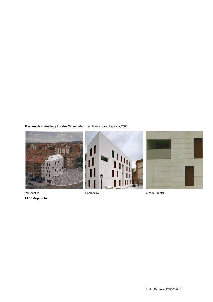 Bloques de viviendas y Locales Comerciales    em Guadalajara, Espanha, 2000     Perspectiva                               ...
