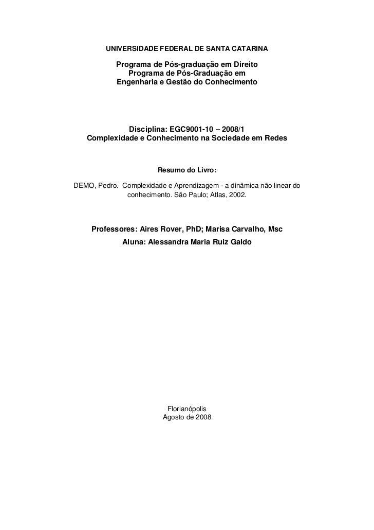 UNIVERSIDADE FEDERAL DE SANTA CATARINA              Programa de Pós-graduação em Direito                Programa de Pós-Gr...
