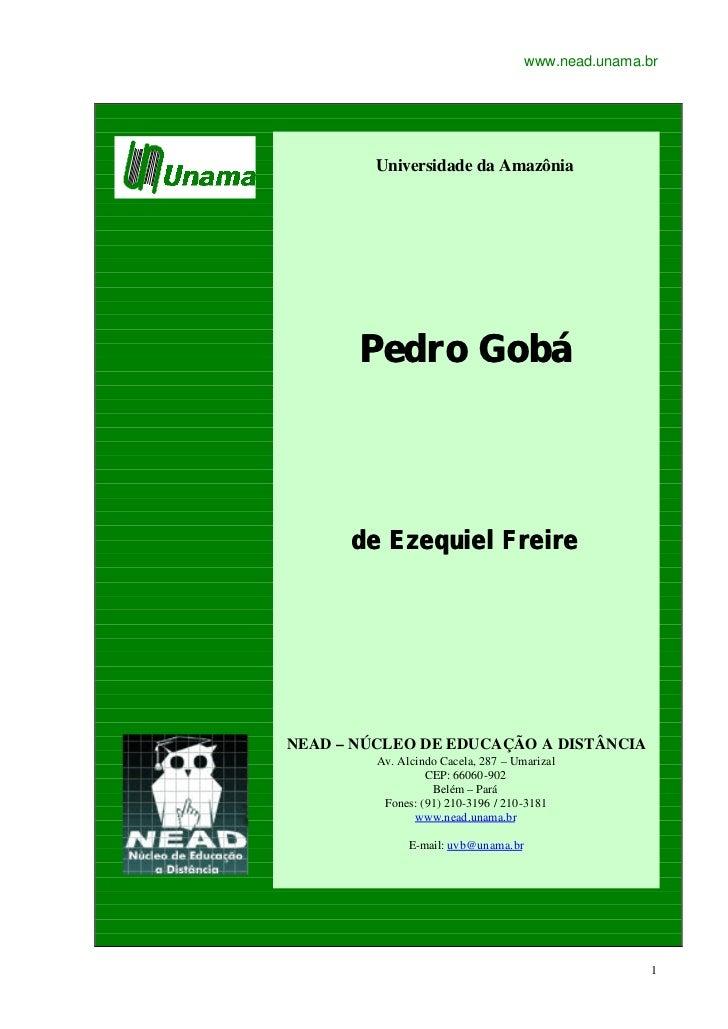 www.nead.unama.br         Universidade da Amazônia       Pedro Gobá      de Ezequiel FreireNEAD – NÚCLEO DE EDUCAÇÃO A DIS...