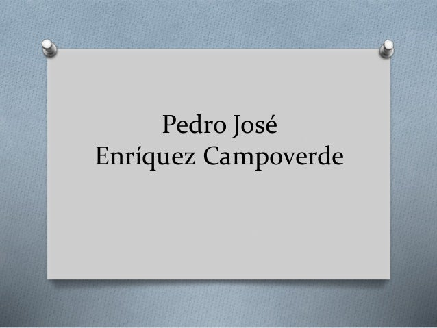 Pedro José Enríquez Campoverde