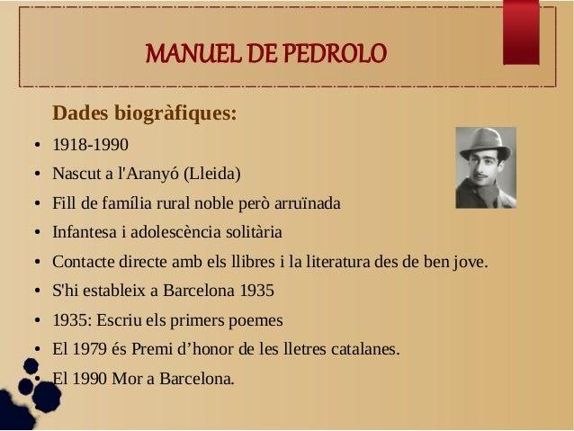 Manuel de Pedrolo  Slide 2