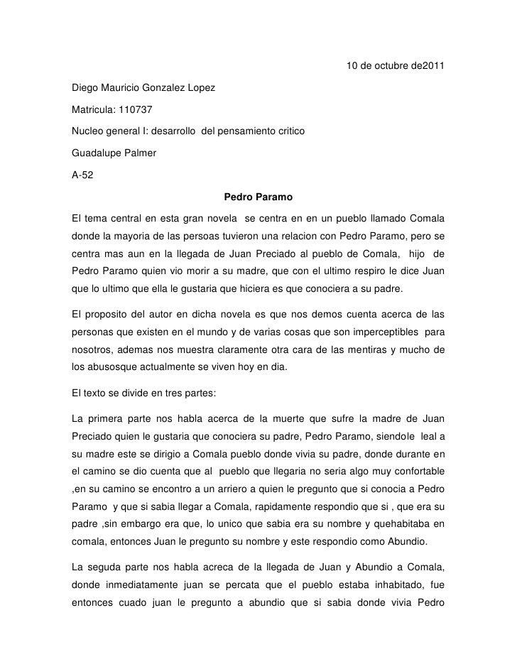 10 de octubre de2011<br />Diego Mauricio Gonzalez Lopez<br />Matricula: 110737<br />Nucleo general I: desarrollo  del pens...