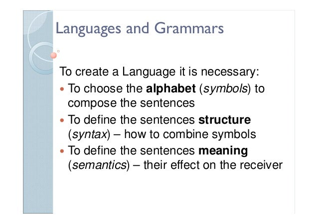 Languages Ontologies And Automatic Grammar Generation Prof Pedro