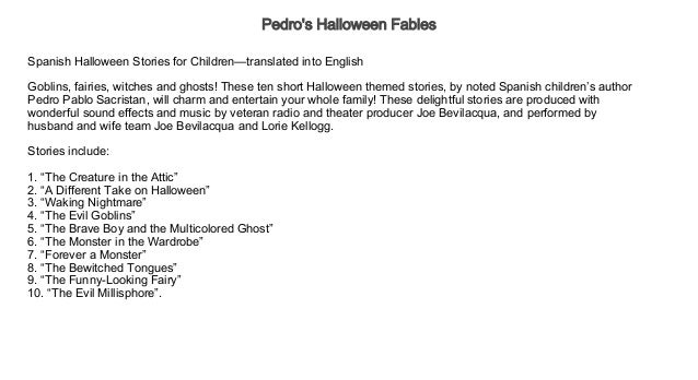pedros halloween fables audiobook pedros halloween fables audiobook free kids audiobook free