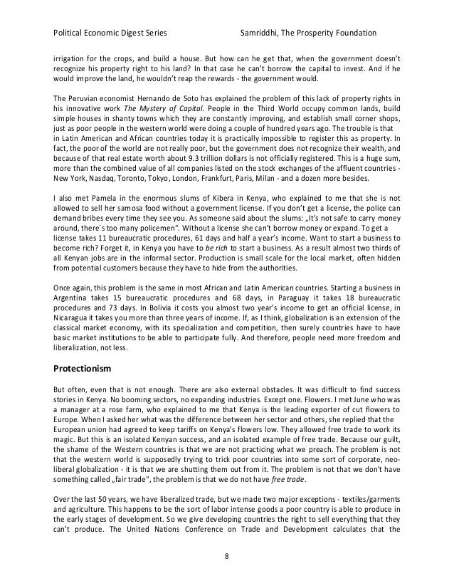 Political and economic globalization essay