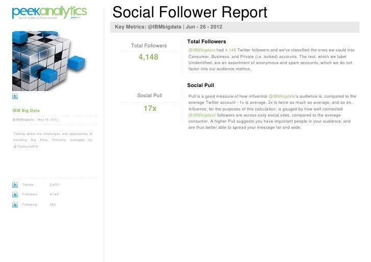 Social Follower Report                                                     Key Metrics: @IBMbigdata | Jun - 26 - 2012     ...
