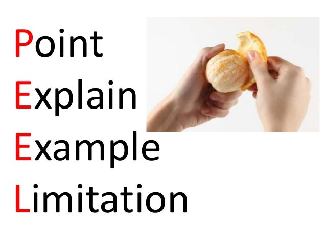 Point Explain Example Limitation