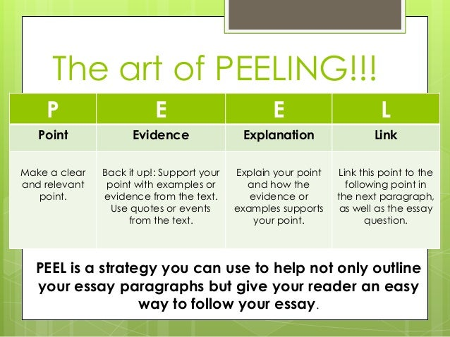 peel essay writing - Essay Structure Format