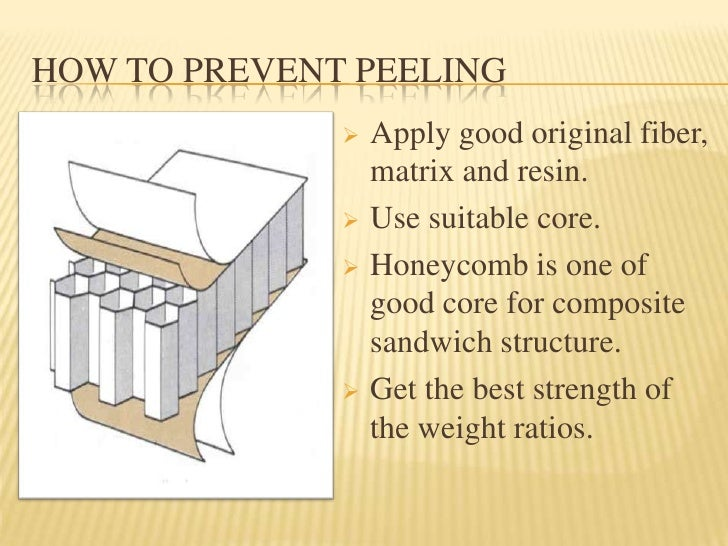 Sandwich Structured Composite : Peeling of composite sandwich structure yang sebenar