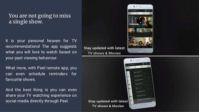 Peel universal smart remote app