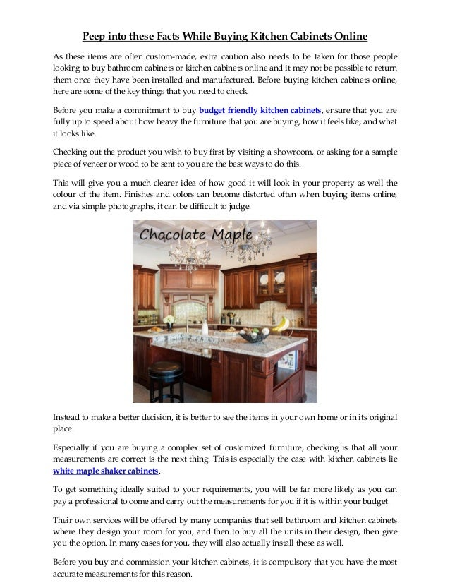 Peep Into These Facts While Buying Kitchen Cabinets Online Converted