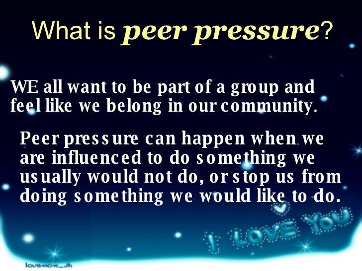Teenage sexual pressures powerpoint