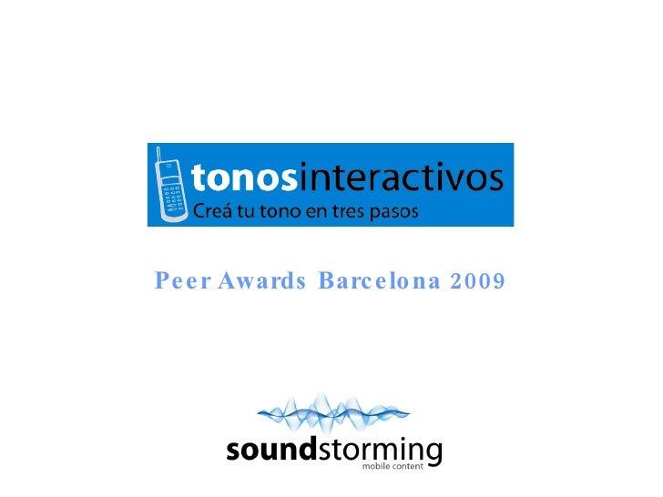 Peer Awards Barcelona 2009