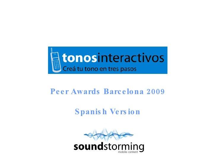 Peer Awards Barcelona 2009 Spanish Version