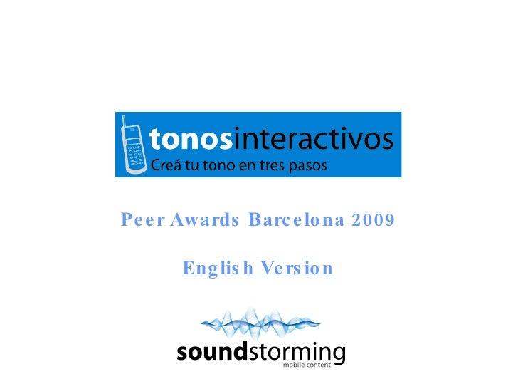 Peer Awards Barcelona 2009 English Version