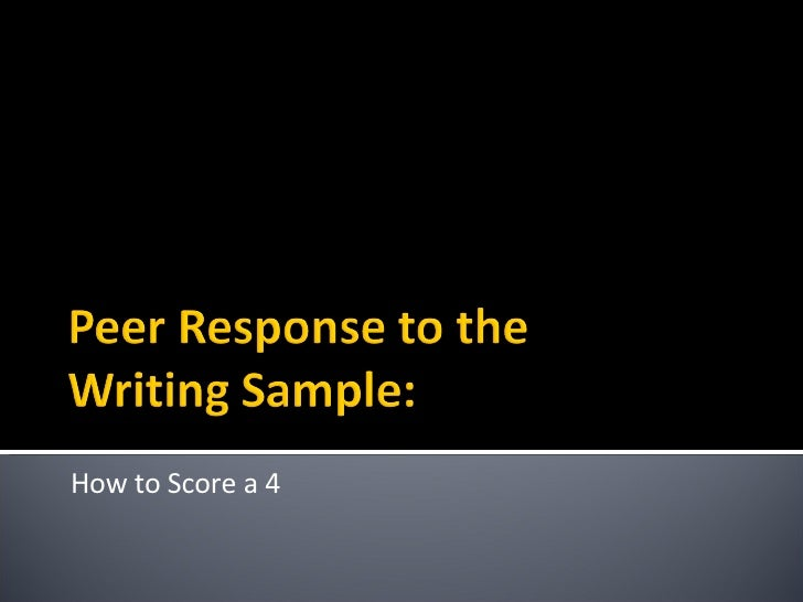 How to Score a 4