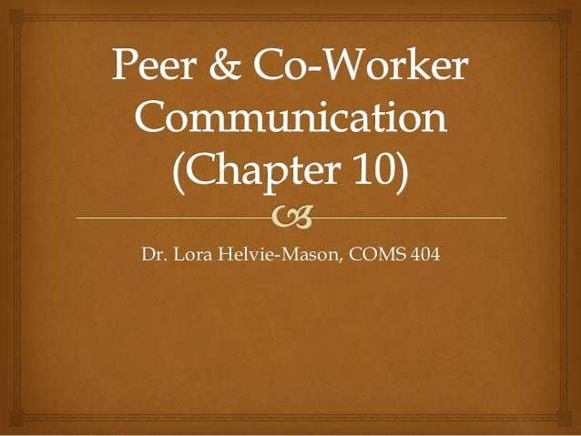 Dr. Lora Helvie-Mason, COMS 404