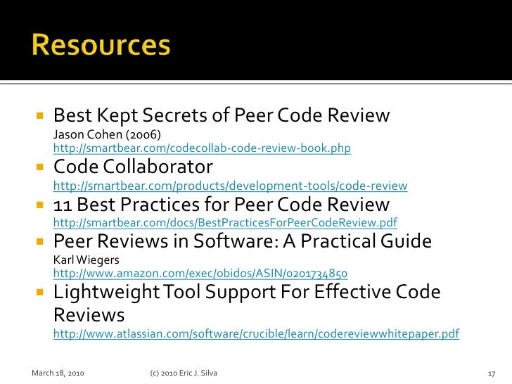 Peer Code Review