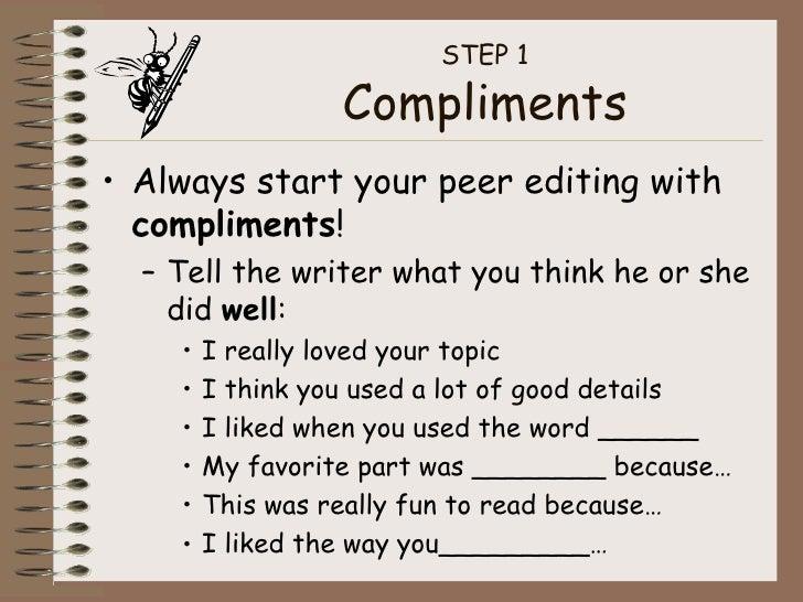 Peer Editing Tutorial – Peer Editing Worksheet High School