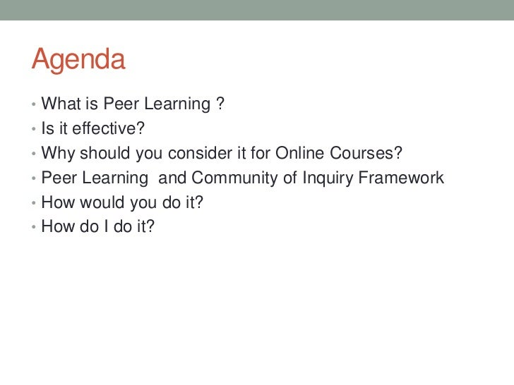 Creating Effective Peer Learning Environments in Online Courses Slide 2