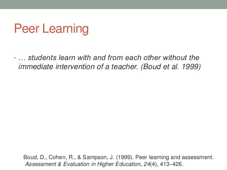 Creating Effective Peer Learning Environments in Online Courses Slide 3