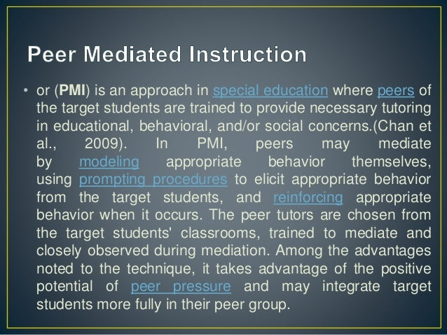 Peer Mediated Learning