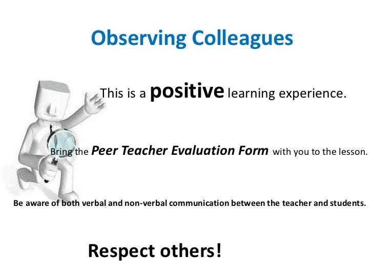 Peer observation 1