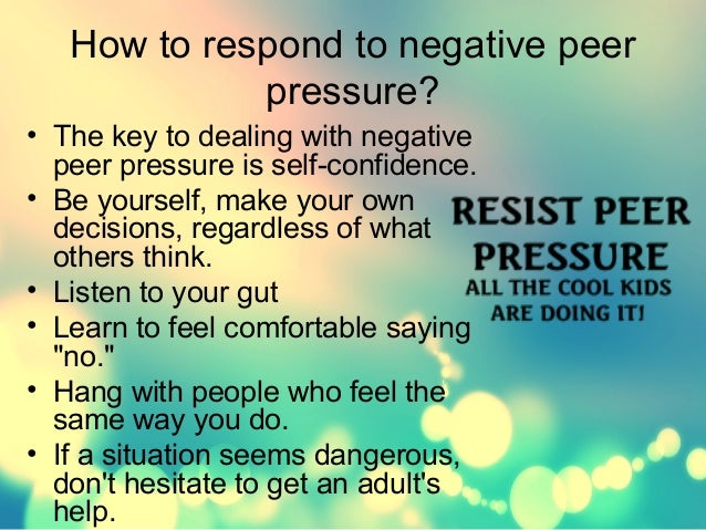 the influencing power of peer pressure The power of peer pressure page navigation international center for finance psychology professor emeritus at arizona state university and author of influence.