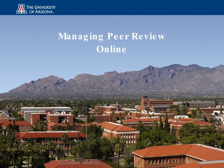 Managing Peer Review Online