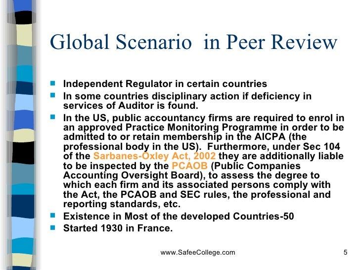 Peer review of practicals
