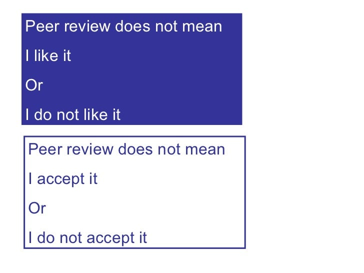 how to write a peer review