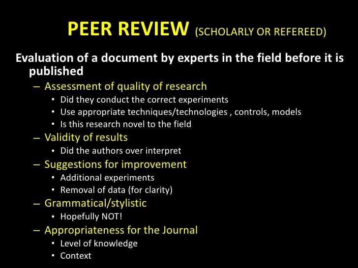 Refereed vs peer reviewed