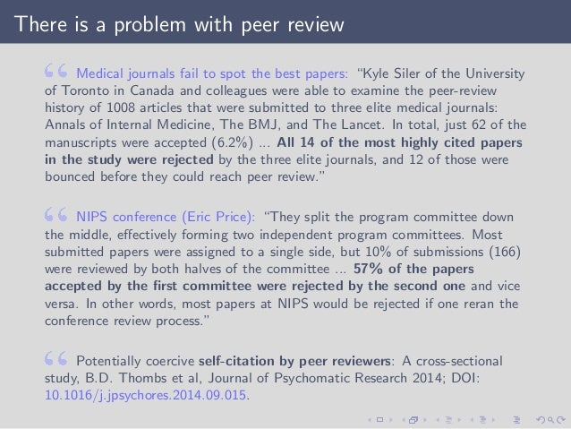 conference has have paper papers process publication research review work The peer review process and into the process when a journal sends them a paper to he/she is obligated to support and encourage publication of work of.