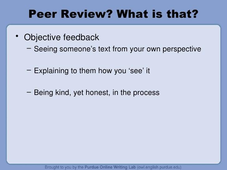 peer review writing process