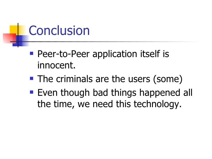 the evolution of the peer to peer file sharing What is peer-to-peer file sharing software peer-to-peer (p2p) technology is a way to share music p2p file sharing programs allow computers to download files.