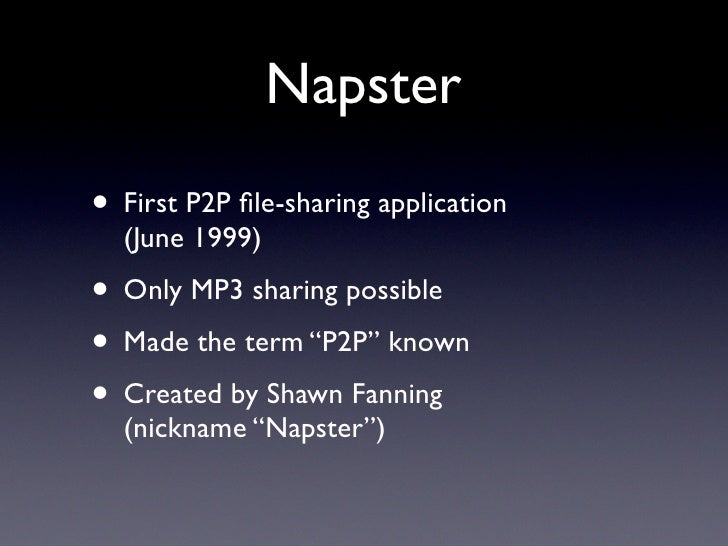 the history of napster created by shaun fanning