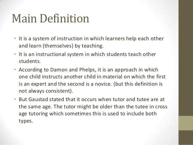 Calendar Year Legal Definition : Peer tutoring