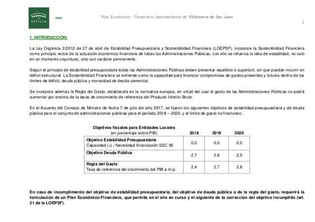 Plan económico-financiero 2017-2018 definitivo Villanueva de San Juan Slide 3