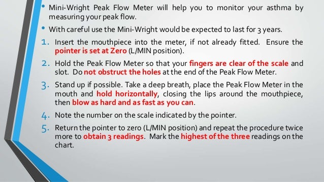 Peak Flow Chart Peak Expiratory Flow Measuring Your Peak Flow Rate